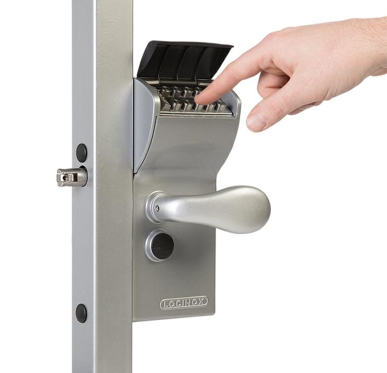 Locinox Vinci Double Sided Mechanical Gate Lock (BLACK)